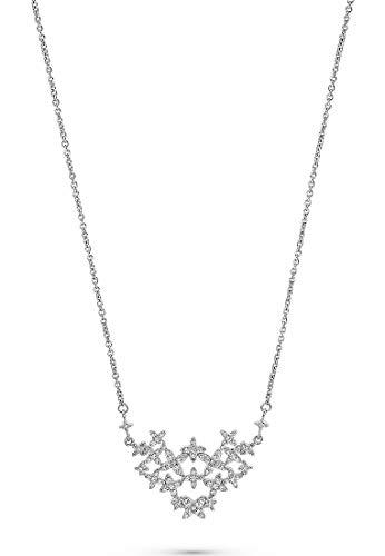 JETTE Silver Damen-Kette 925er Silber 85 Zirkonia One Size 88005082