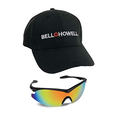 Bell + Howell Sports TAC GLASSES with Cap, Unisex, Military Eyewear, Polarized Sport Sunglasses For Driving, Cycling, Running, Golfing, Fishing Shade As Seen On TV