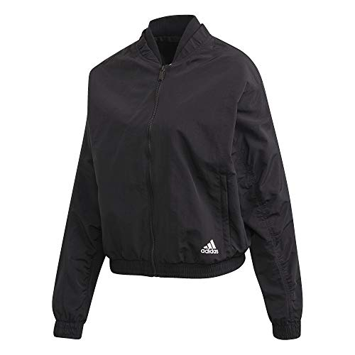 adidas Damen Woven Bomber Jacket Jacke, Black, M