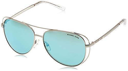 Michael Kors Damen LAI 113725 58 Sonnenbrille, Shiny Silver ToneTealmirror