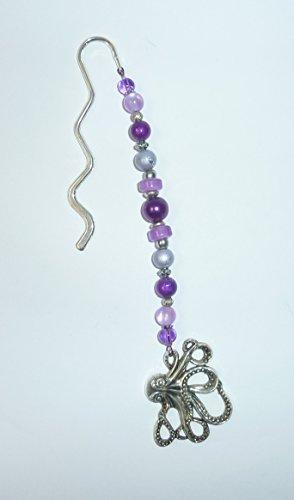 Lesezeichen - OKTOPUS - lila & violett -