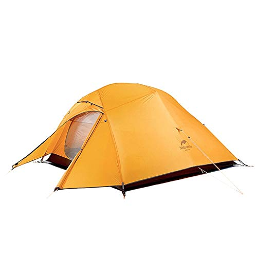 Mdsfe Naturehike Cloud Up Series 20D Nylon Ultralight Camping Tent Waterproof Wind-proof HikingTent For 3 Person NH18T030-T-210T Orange,A1