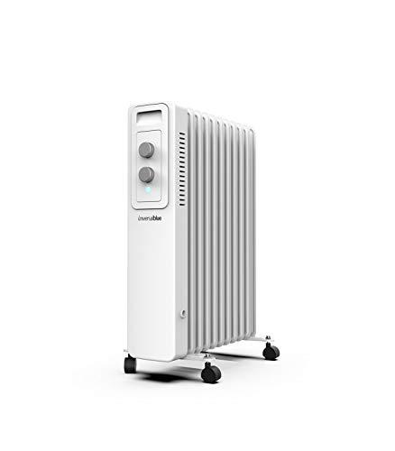 UNIVERSALBLUE | Radiador de Aceite | Calefactor Blanco | Termostato Ajustable | 11 Elementos calefactores | 2000W | 3 Potencias | Silencioso | Sistema de Seguridad