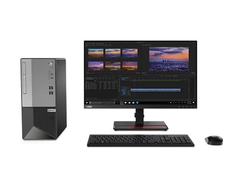 Lenovo V50t 13IMB - Ordenador Sobremesa Torre (Intel Core i3-10100, 8GB RAM, 256GB SSD, Intel UHD Graphics 630, Windows 10 Pro, DVD±RW), Negro - Teclado QWERTY Español y Ratón