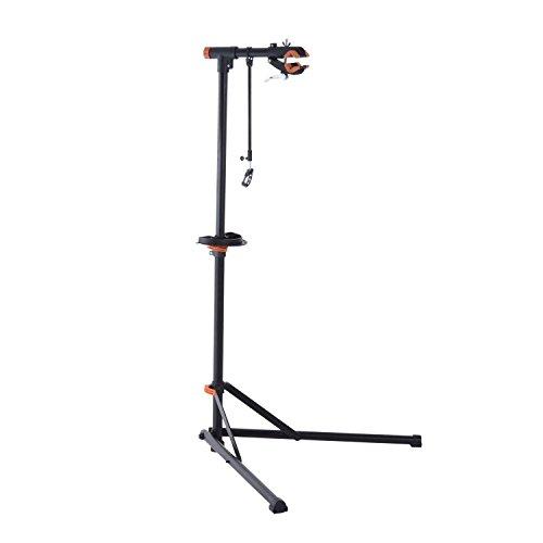 homcom Cavalletto Supporto per Riparazione e Manutenzione Bicicletta in Ferro e PP 85 x 59 x 100-159cm
