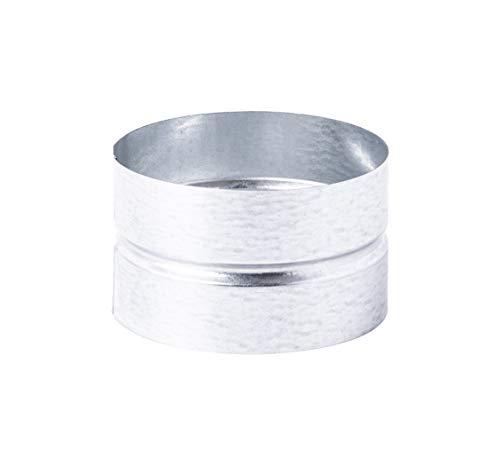 Manguito de 125 mm de diámetro – Conector – Tubo de ventilación redondo de chapa de acero galvanizado (DN 125)