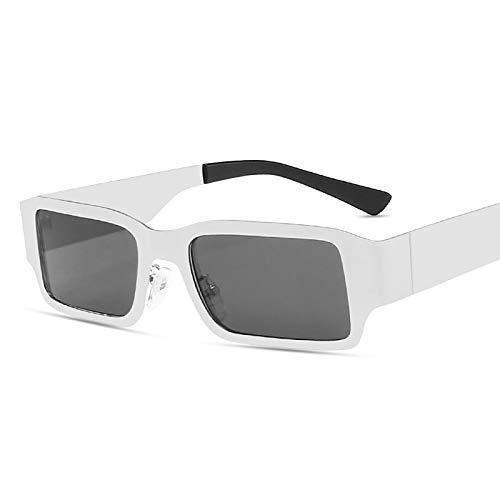 QFSLR Gafas de sol para hombre de marco pequeño, gafas de sol para mujer, 100% protección UV, A