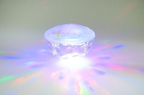 Onderwaterlicht badkuiplicht, wellnesslicht met 4 gekleurde leds en 5 modi, incl. batterijen ook als zwembadlicht zwemlicht onderwaterlichtshow partylicht discobal light show te gebruiken