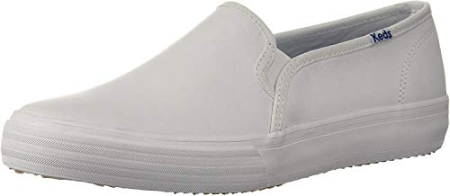 Keds Damen Double Decker Leather Sneaker, White, 37.5 EU