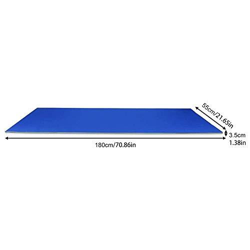 Hollewe Schwimmdecke Für Schwimmbäder, Schwimmende Wasserpads Pool Float, Reißfeste 2/3-Lagen-XPE-Schaum-Pool-Schwimmmatte 180 X 55 X 2,2 cm / 3,5 cm