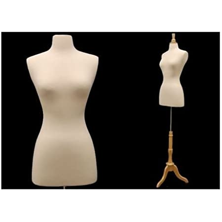ROXYDISPLAY/™ New Design Female Body Form Size 2-4 with Base BS-04+JF-FWPW-4