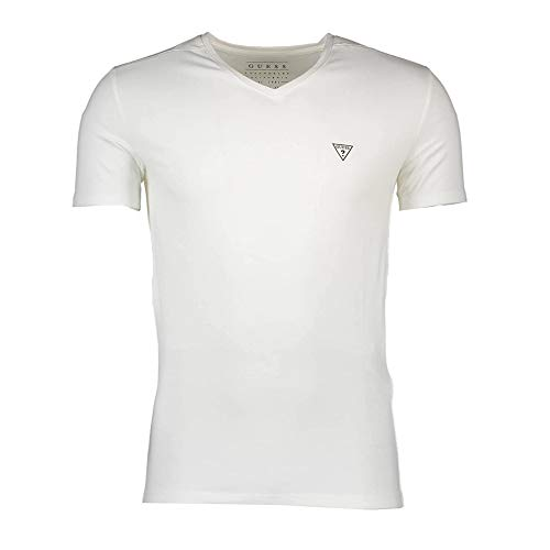 GUESS JEANS M64I54J1300 Camiseta con Las Mangas Cortas Hombre Blanco A009 L