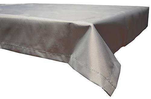 beo Table d'extérieur Plafond rectangulaire imperméable, 130 x 180 cm, Gris Clair