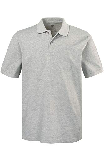 JP 1880 Herren große Größen bis 8XL, Poloshirt, Oberteil, Knopfleiste, Hemdkragen, Pique, grau-Melange 6XL 702560 12-6XL
