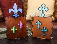 Fleur De Lis Picture Frame With Crystals Magnets Outlet SALE Two Detroit Mall