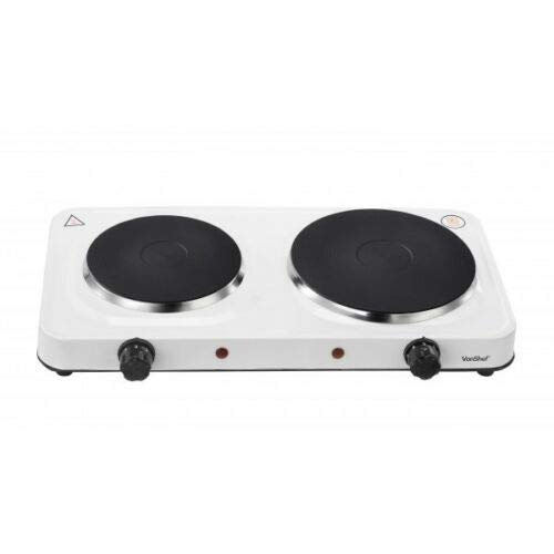Hot Plate 1000w,1500w,2000w,2500w Single Double Electric Cooking Hob Cooker Stove (2500W Double Hot Plate)