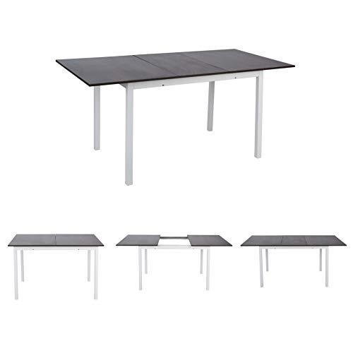 MEUBLE COSY Esstisch Ausziehbar Esszimmertisch Wohnzimmer Tisch Küchentisch Rechteckig MDF Grau
