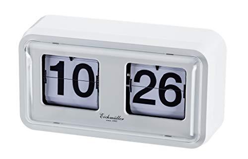 Eichmüller since 1950 Retro Flip Uhr mit Gehäuse - weiß weiß