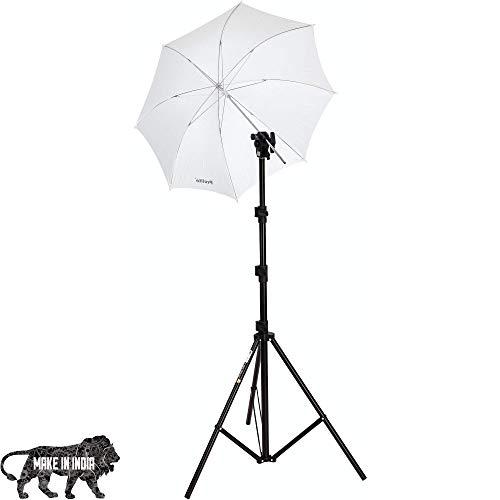 Prolite Studio Setup Kit with 9 ft Light Stand, Umbrella/B4/Flash Clamp, Umbrella for Photography & Videography