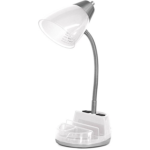 Lamp with Bulb with Organizer, White