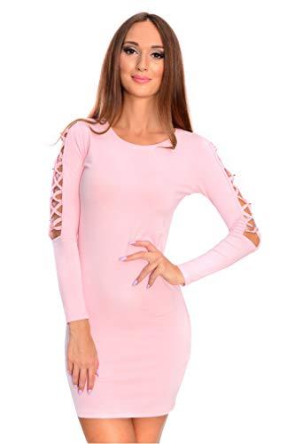 OxydCollection Damen Etuikleid Kurzkleid Freizeit Party Elegant Mini Kleid Abendkleid, 0333...