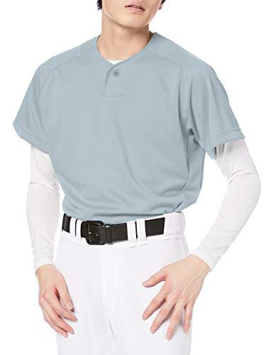 [エスエスケイ] 野球ユニフォーム 1ボタンベースボールTシャツ メンズ シルバーグレー (95) 日本 O (日本サイズ2L相当)