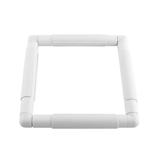Quadratische Stickrahmen, Kunststoff Stickrahmen Eckig, Reifen Nähen Rahmen für DIY Nähen Kreuzstich Quilten(20.3 * 20.3cm)