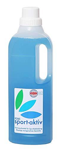 ROWE sport-aktiv 1 Liter - Feinwaschmittel mit Geruchsentferner für Haushalt, Sport und Outdoor Textilien - Enzymfrei - Dermatologisch getestet - Spezial Waschmittel, entfernt unangenehme Gerüche