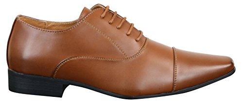 Chaussures homme style formel professionnel festif cuir et simili blanc marron clair noir avec lacets