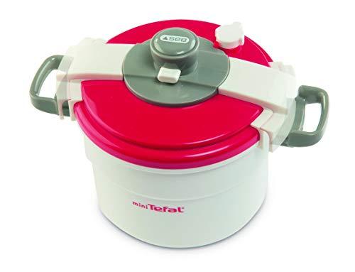 Smoby Tefal Mini Pressure Cooker - Juguetes de rol para niños (3 Año(s), Femenino, Gris, Rojo, Color Blanco, 10 cm, 8 cm, 10 cm)