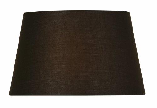 Oaks Lighting Lampenschirm aus Baumwolle, zylindrisch, 30,5 cm, chocolate