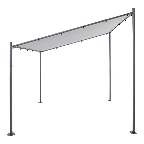 Sorara Milano Tonnelle Pavilion | gris | 285 x 220 x 310 x 295 cm | Polyester 250 g/m² (UV 50 +) | 41 kg | Auvent extérieur