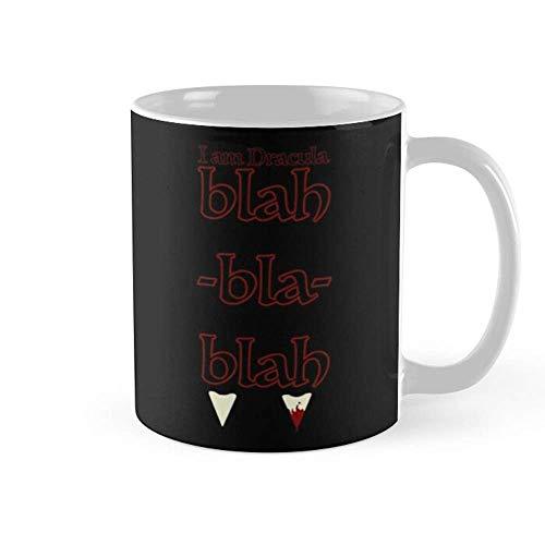 Lsjuee I Am Dracula Blah Bla Blah Hotel Transylvania taza de café tazas de té de cerámica de 11 oz