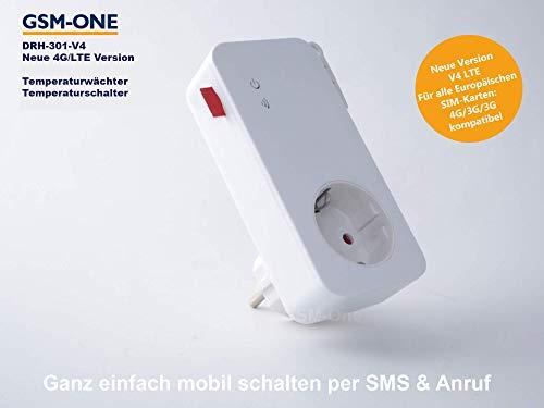 GSM Frostwächter/Fernschalter und Temperaturwächter, DRH-301-V4 LTE (Master), LTE Version (4G/3G/2G), Stromausfallwarner