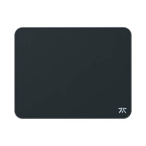 Fnatic Dash M Extended Pro Gaming Mouse Mat for Esports with Stitched Edges and Anti-Slip Rubber Base, Fast Surface (Size M, Medium, Desktop, Black, Hybrid Fabric) - 360 x 280 x 3mm