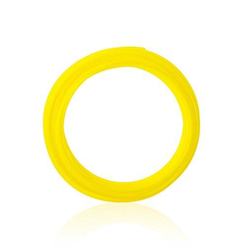 3D Printer Filament PLA 10 Packs 1.75mm Plastic Filament Refills 3D Pen Filament Set 32.8 Feet Linear for Each (Yellow)