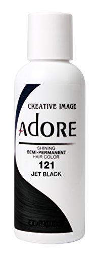 Adore Haartönung / Haarfarbe Semi Permament Color ,,121,, Jet Black