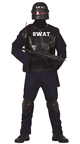 FIESTAS GUIRCA Disfraz de Polica SWAT Hombre Adulto Talla L 52-54