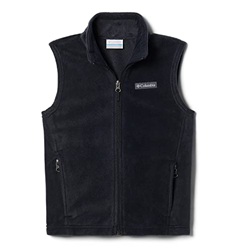 Columbia Boys Steens Mountain Fleece Vest, Black, Large