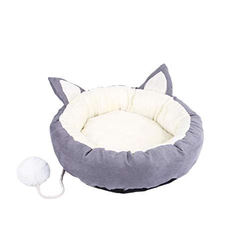 MaylFre Hundebett Super Soft Pet Schlafsofa Angebote Kopf-Hals-Und Joint Support Premium-Bettwäsche Für Katzen Oder Kleine Hunde Grau M