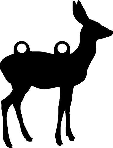 """High Caliber AR500 Animal Targets - Doe 1-12"""" X 16"""" X 1/2"""" - More Animals & Sizes in The Listing - Steel Targets Practice for shooing Pistol and Rifles"""