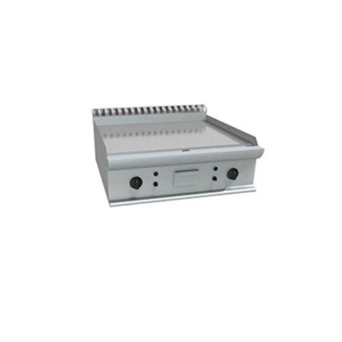 Fry Top Elektro-Werkbank Platte aus poliertem Stahl Dolce–Dim. Cm 70x 70x 27H