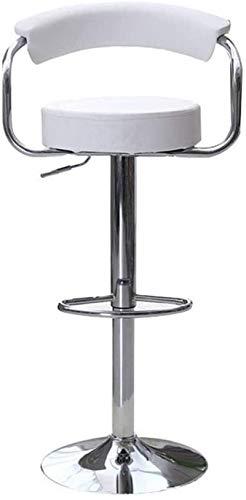 JYV Sillones para el hogar, Taburete de Barra de Adultos Europeos Taburete de Desayuno con Respaldo Silla de recepción giratoria (Size : A)