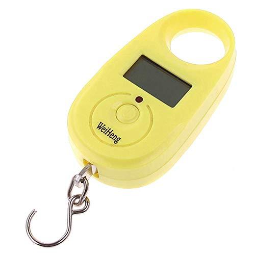 DZX Báscula electrónica Mini portátil con retroiluminación LCD Bolsa de Equipaje Báscula de Pesca Báscula de Equipaje Báscula Digital portátil Báscula electrónica de Equipaje Balanza Colgante 25KG Am