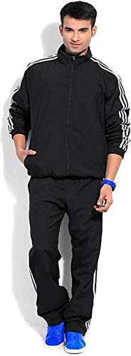 Royal spin ad Side Patti Running Sportwear Casual Tracksuit for Men (X-Large, Black)