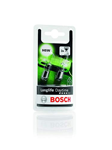 Lámparas Bosch para vehículos Longlife Daytime H6W 12V 6W BAX9s (Lámpara x2)