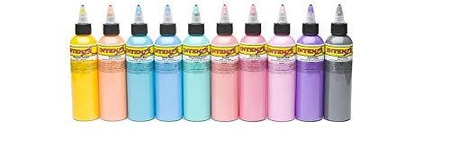 Pastel 1oz Color Set - Intenze Tattoo Ink - 10 Bottles