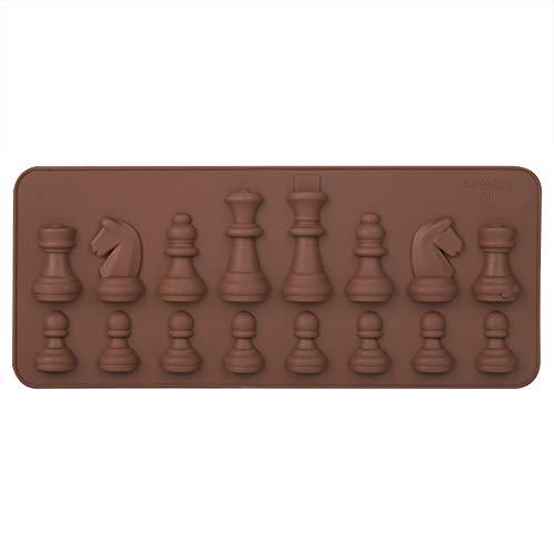 Moldes de silicona para chocolate, molde para chocolate con forma de ajedrez,...