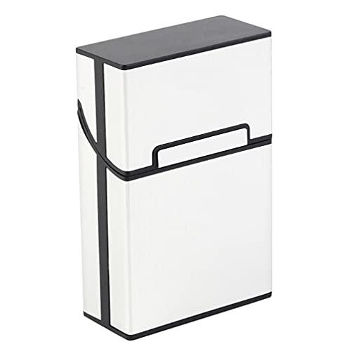 LIXUDECO Humidificador portátil Cigarrillos caso delgado aluminio cigarrillo cigarrillo tabaco titular caja almacenamiento contenedor fumar accesorios (color: D)