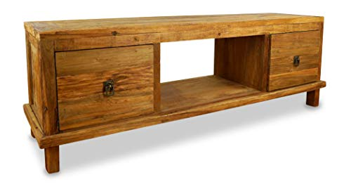 livasia Java Sideboard aus Teakholz | TV-Bank aus Massivholz | Teakholz Phonoschrank | Asia HiFi-Möbel (Handarbeit) | Asiatische Möbel der Marke Asia Wohnstudio